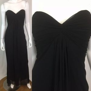Vintage Cache Strapless Mesh Twist Long Gown
